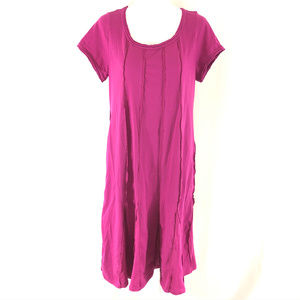 Soft Surroundings T Shirt Dress Ribbed Scoop Neck